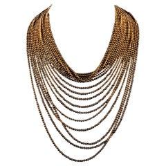 Cartier Draperie de Decollete 18 Karat Yellow Gold Vintage Necklace 18 Rows