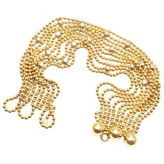 Cartier Draperie de Decollete Diamond Yellow Gold Link Bracelet