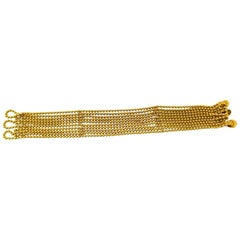 Cartier Draperie Decollete Strand Beaded Yellow Gold Bracelet