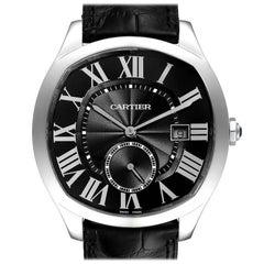 Cartier Drive de Cartier Black Dial Steel Men's Watch WSNM0009 Box Papers