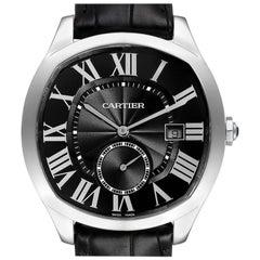 Cartier Drive de Cartier Black Dial Steel Mens Watch WSNM0009 Unworn