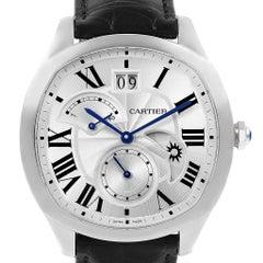 Cartier Drive Stahl Chronograph Herrenuhr WSNM0005 Verpackung und Papiere