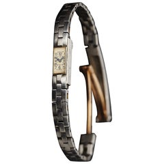 Cartier Duo-Plan Baguette Back Winder Platinum Wristwatch