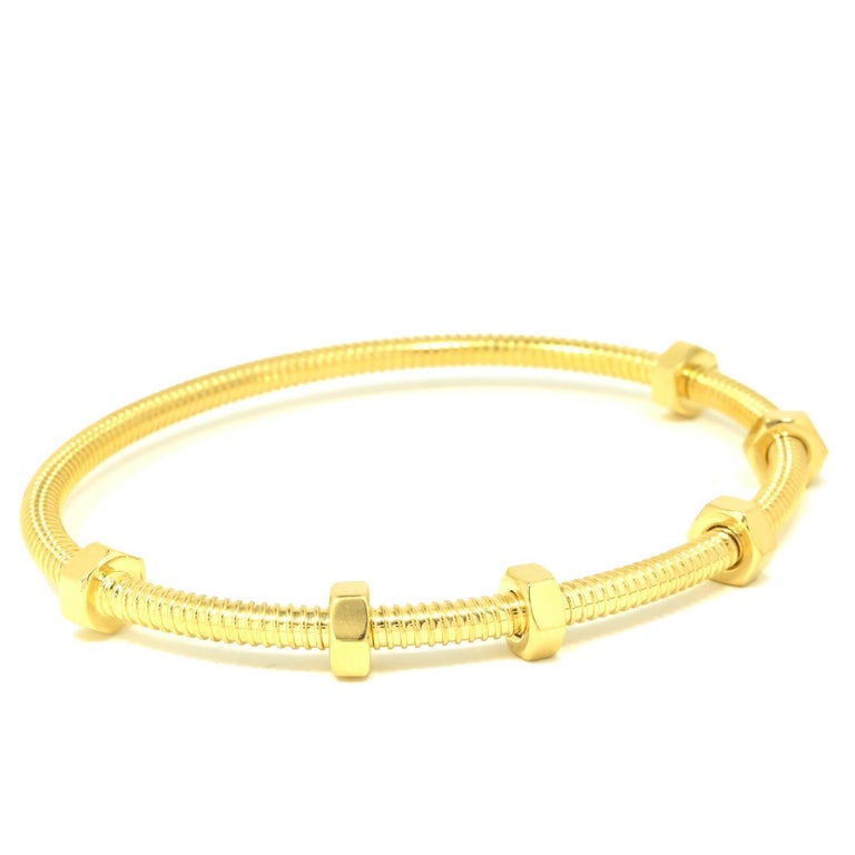 Cartier Ecrou in 18 Karat Yellow Gold In Excellent Condition For Sale In Miami, FL