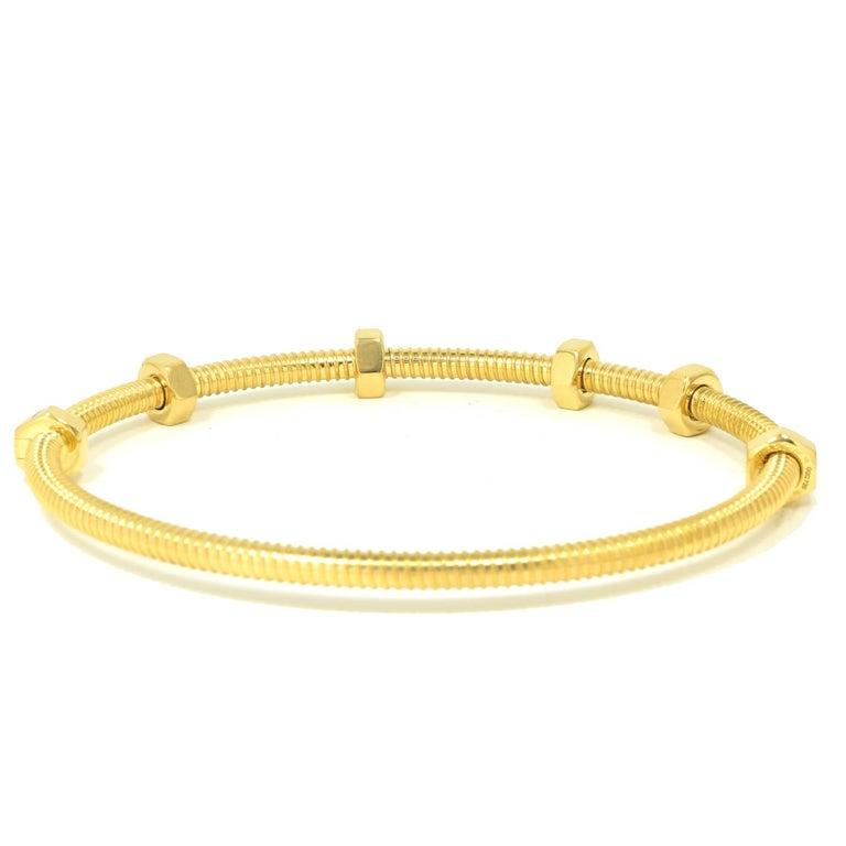 Women's or Men's Cartier Ecrou in 18 Karat Yellow Gold For Sale