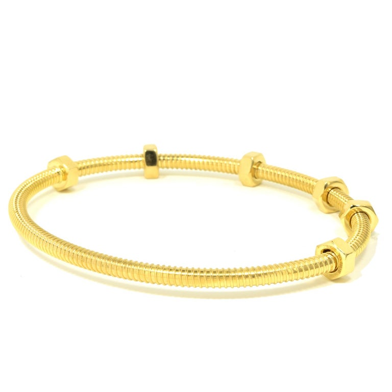 Cartier Ecrou in 18 Karat Yellow Gold For Sale 1