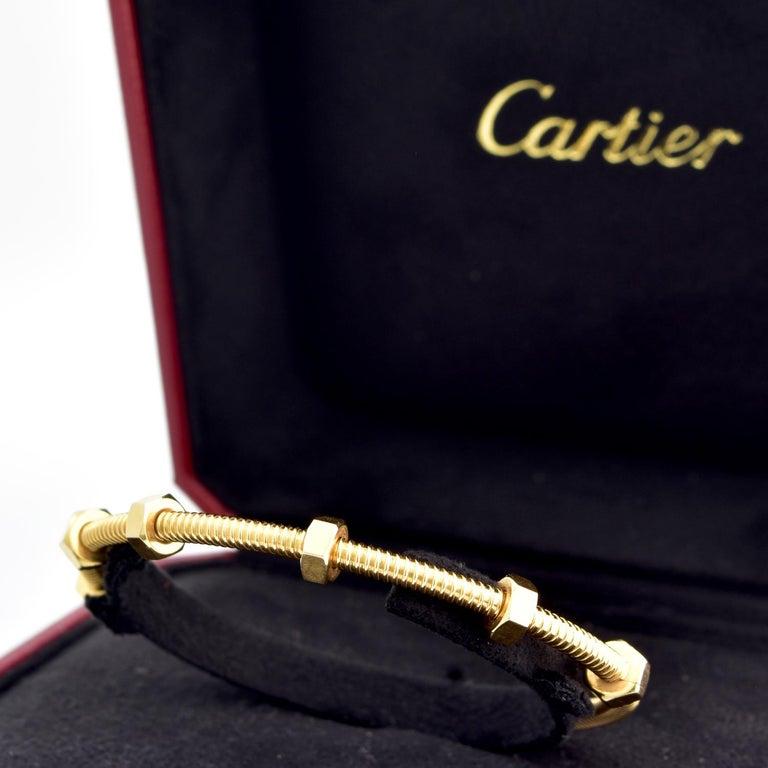 Women's or Men's Cartier Ecrou Yellow Gold For Sale