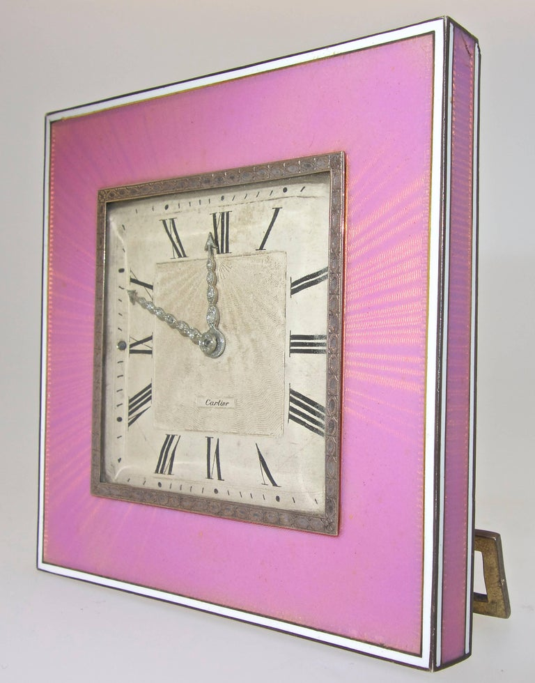 Cartier Edwardian Desk Clock, French, circa 1918 In Excellent Condition For Sale In Aspen, CO