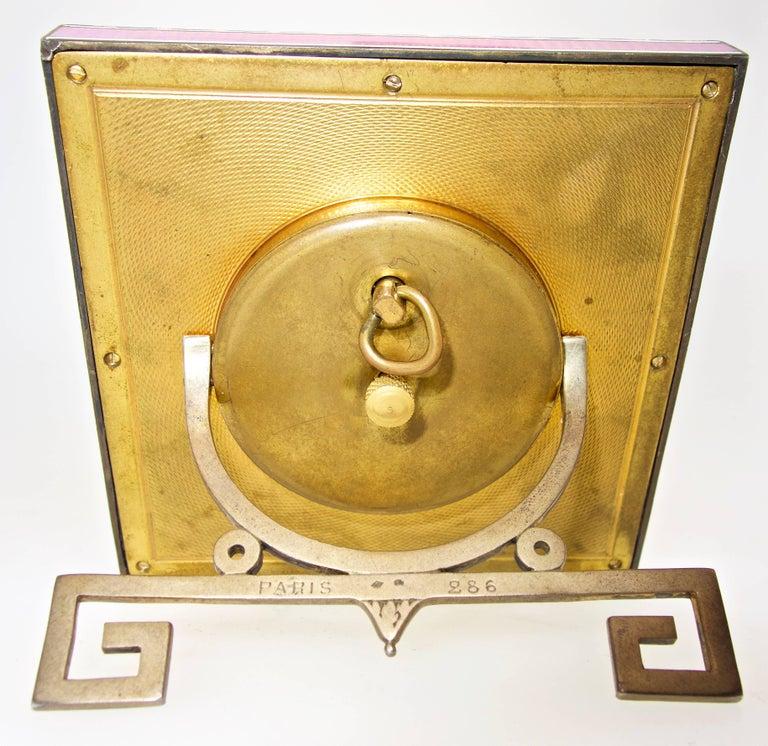 Women's or Men's Cartier Edwardian Desk Clock, French, circa 1918 For Sale