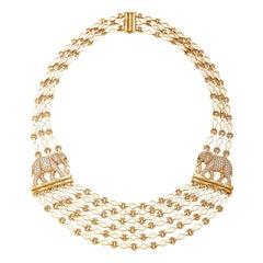 Cartier Elephant Diamond Necklace
