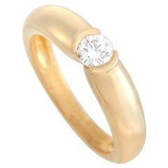 Cartier Ellipse 18K Yellow Gold 0.30 Ct Diamond Ring