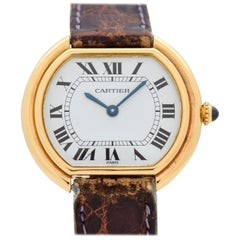 Cartier Ellipse Gondole 18 Karat Yellow Gold Watch, 1990s