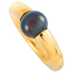 Cartier Ellipse Onyx Yellow Gold Ring