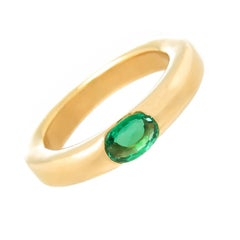 Cartier Ellipse Yellow Gold and Emerald Stacking Band Ring