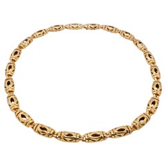 Cartier Emblem 18 Karat Gold Chain Necklace