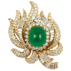 Cartier Emerald and Diamond Brooch