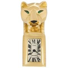 Cartier Emerald and Onyx Panther Lakard Cuff Bangle Watch