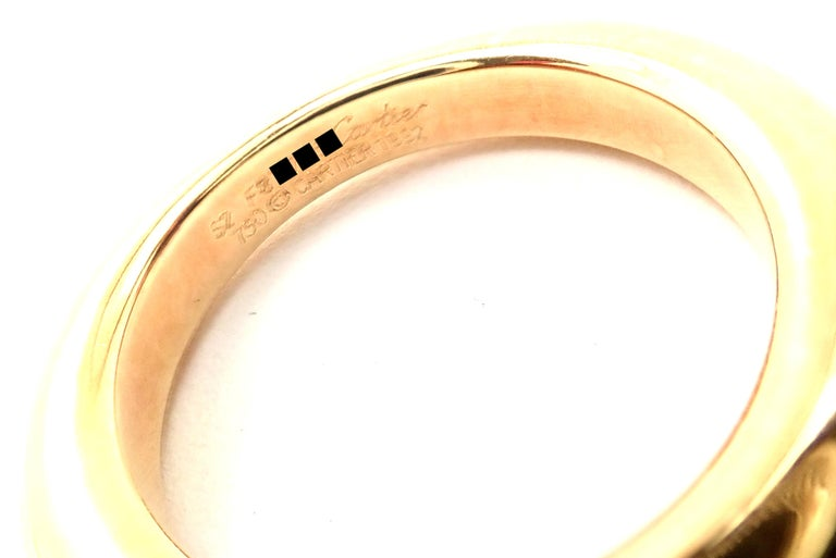 Cartier Emerald Ellipse Yellow Gold Band Ring For Sale 4