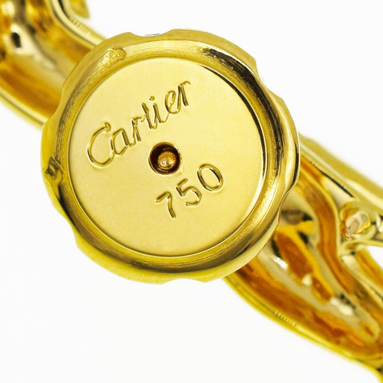 Cartier Emerald Onyx 18 Karat Yellow Gold Bondissante Panthere Pin Brooch For Sale 2