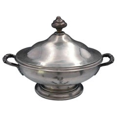 Chartier English Georgian Sterling Silver Vegetable Bowl Covered with Base