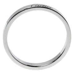 Cartier Engraved Platinum Wedding Band Ring Size 66