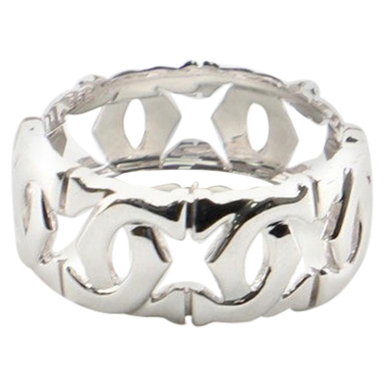 Cartier Entrelaces C de Cartier Band Ring 18 Karat White Gold 6.25-53
