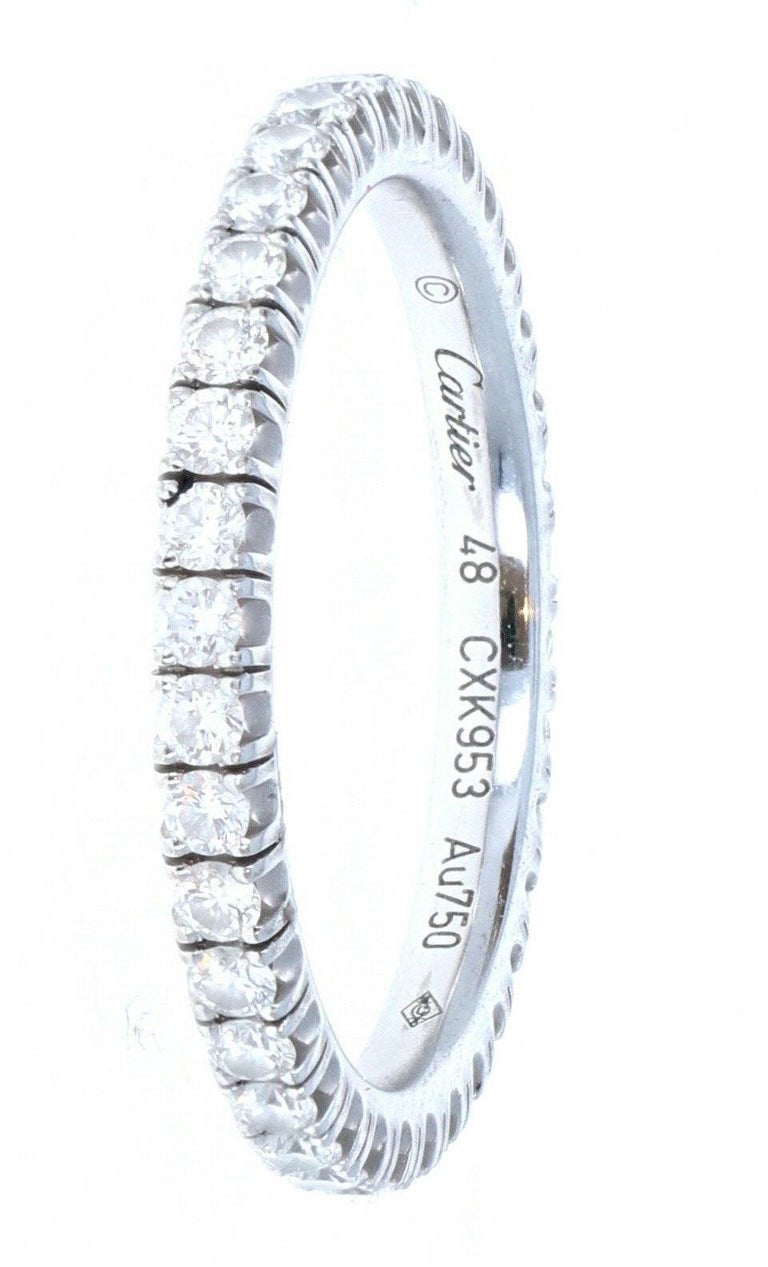 Cartier Étincelle 18k White Gold Eternity Diamond Band In Good Condition For Sale In Beverly Hills, CA