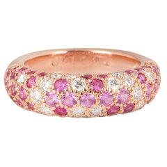 Cartier Etincelle de Cartier 18K Rose Gold Diamond and Sapphire Ring