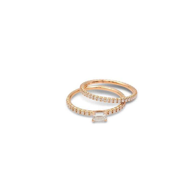 Women's Cartier 'Étincelle de Cartier' Rose Gold and Diamond Ring For Sale