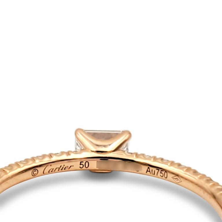 Cartier 'Étincelle de Cartier' Rose Gold and Diamond Ring For Sale 1