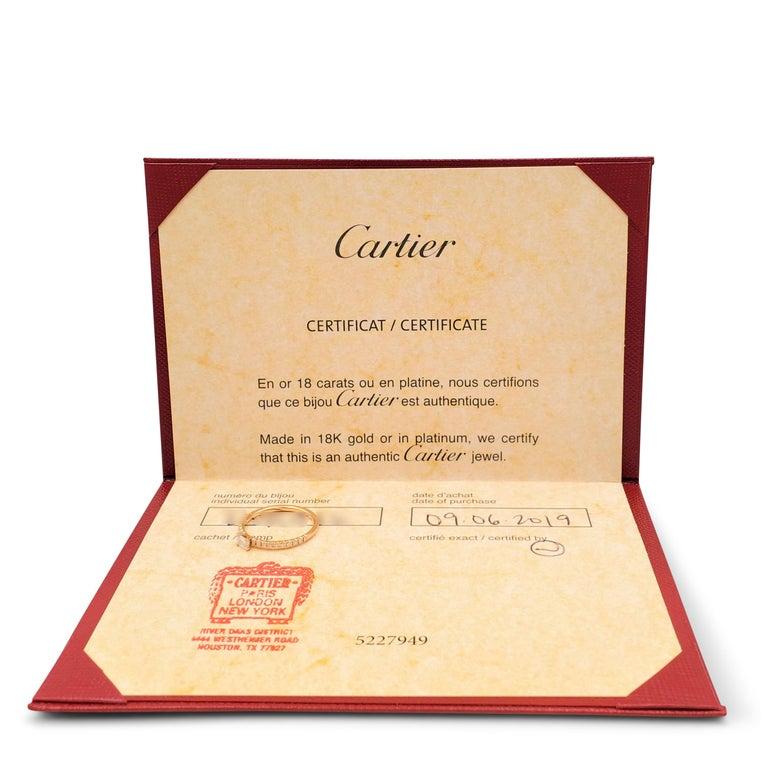Cartier 'Étincelle de Cartier' Rose Gold and Diamond Ring For Sale 2