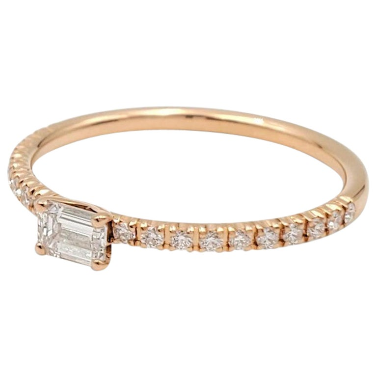 Cartier 'Étincelle de Cartier' Rose Gold and Diamond Ring For Sale