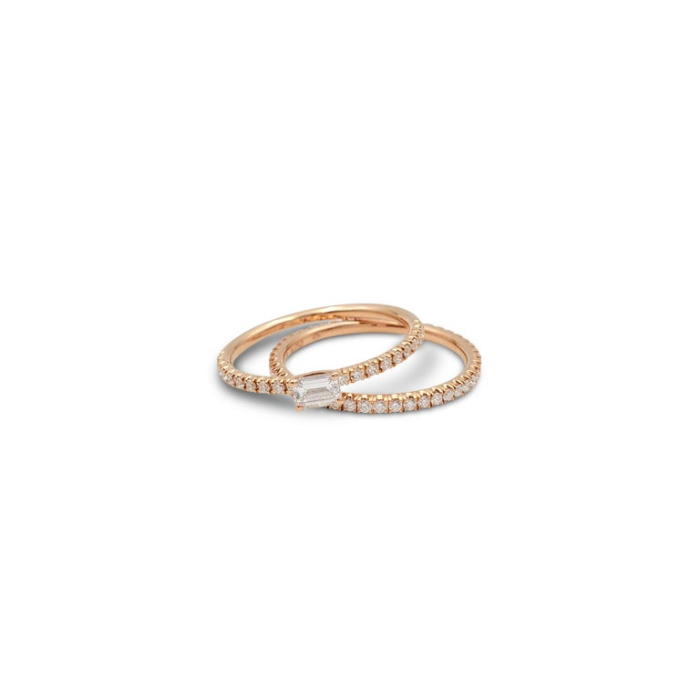 Cartier 'Étincelle de Cartier' Rose Gold and Diamond Wedding Band In Excellent Condition For Sale In New York, NY
