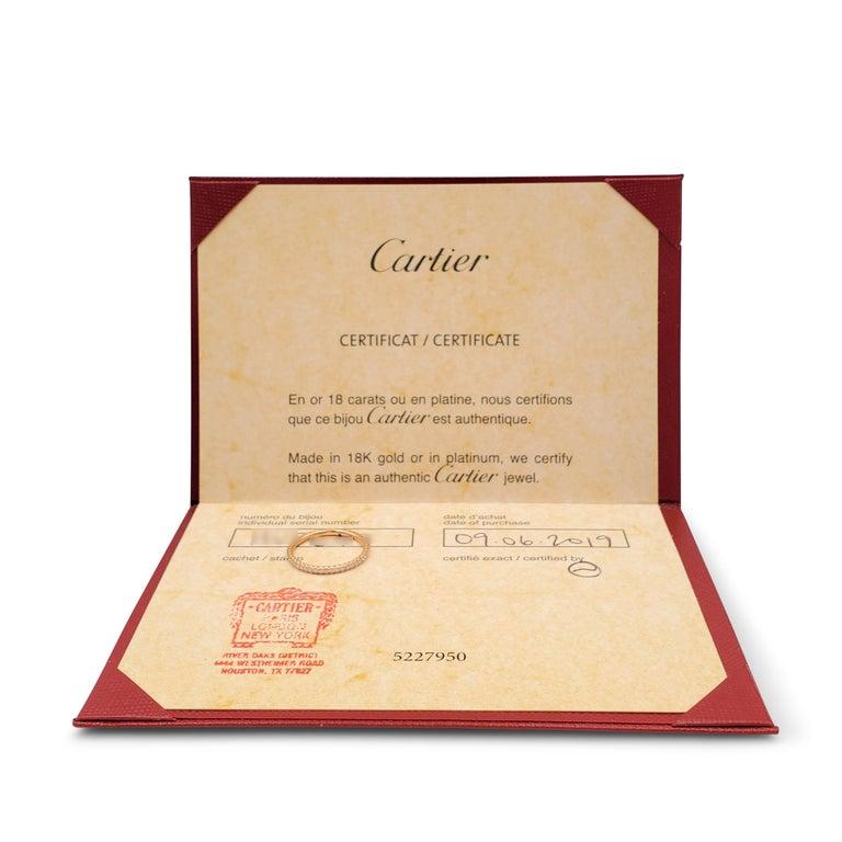 Women's Cartier 'Étincelle de Cartier' Rose Gold and Diamond Wedding Band For Sale