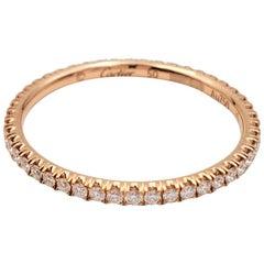 Cartier 'Étincelle de Cartier' Rose Gold and Diamond Wedding Band