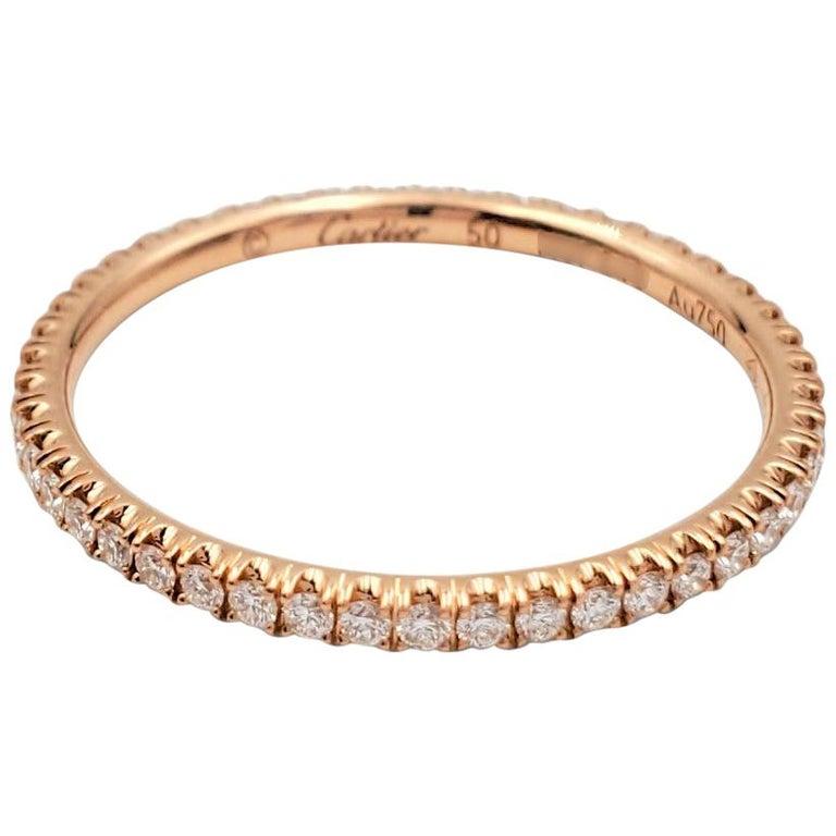 Cartier 'Étincelle de Cartier' Rose Gold and Diamond Wedding Band For Sale