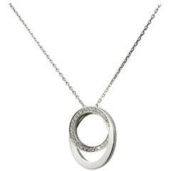 Cartier Etincelle Diamond 18 Karat White Gold Necklace