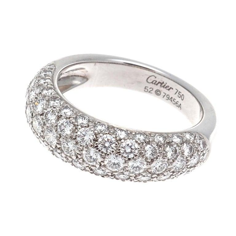 Modern Cartier Etincelle Diamond Gold Band