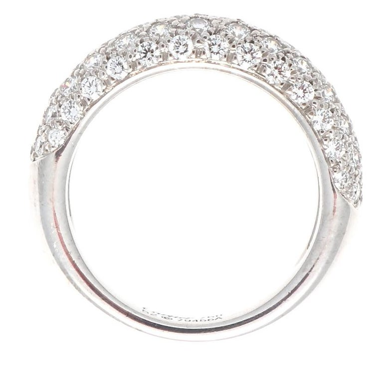 Round Cut Cartier Etincelle Diamond Gold Band
