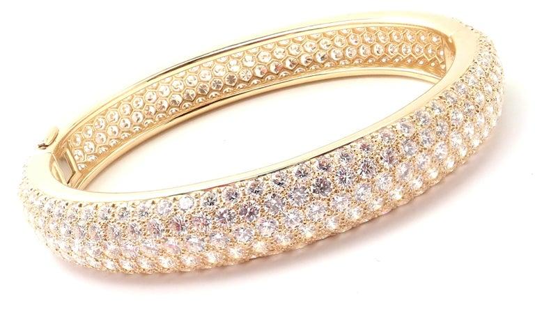 Cartier Etincelle Diamond Pave Yellow Gold Bangle Bracelet For Sale 5