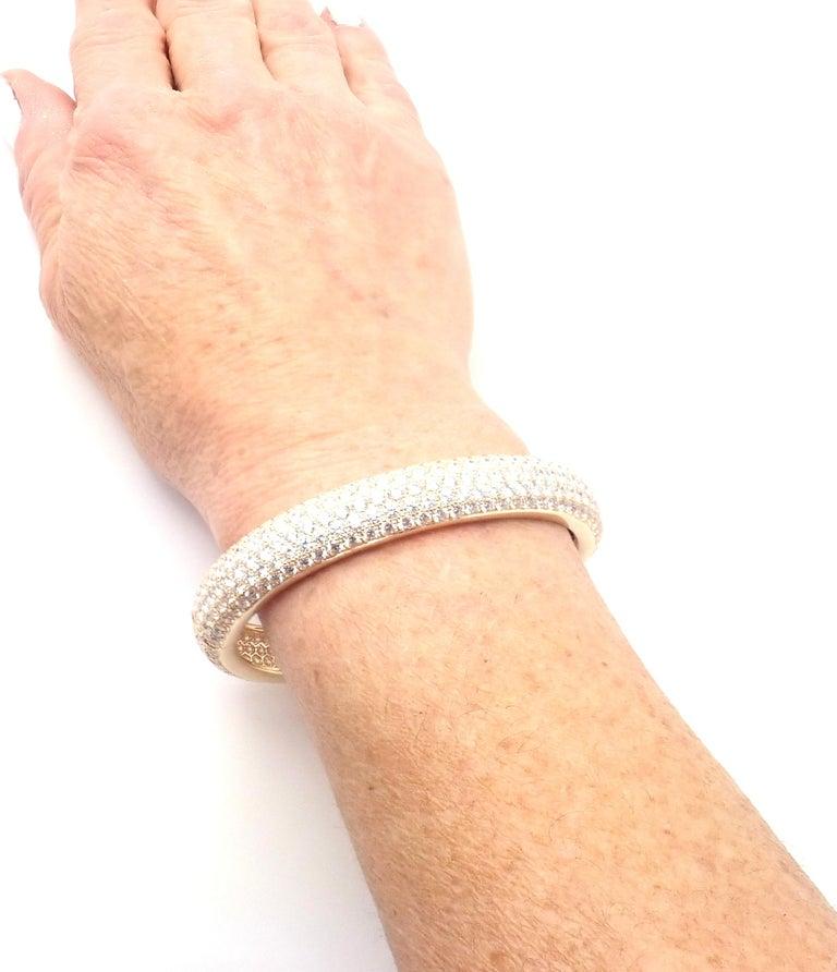 Cartier Etincelle Diamond Pave Yellow Gold Bangle Bracelet For Sale 1