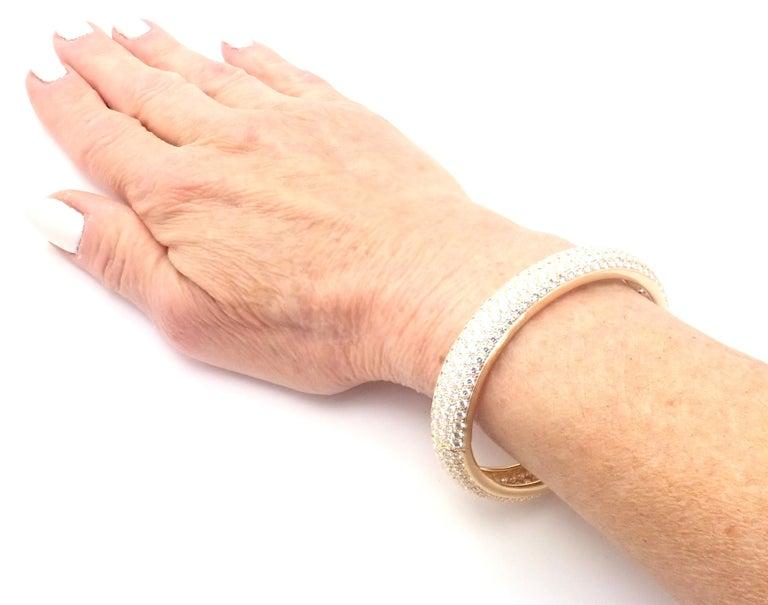 Cartier Etincelle Diamond Pave Yellow Gold Bangle Bracelet For Sale 2