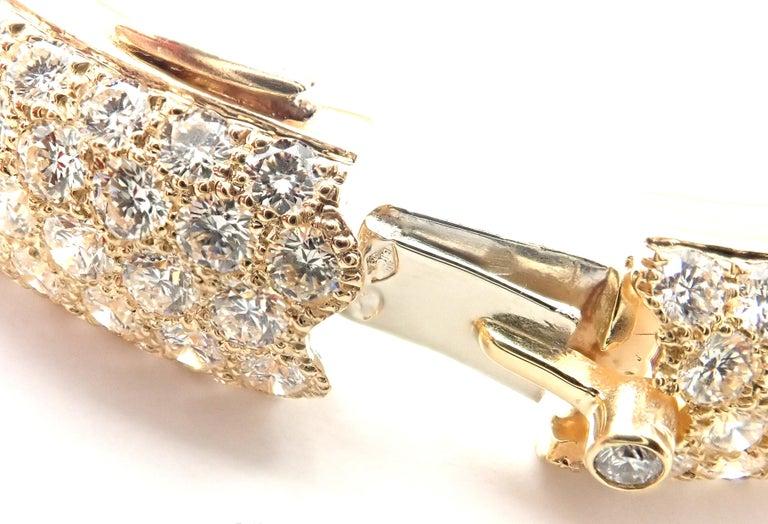 Cartier Etincelle Diamond Pave Yellow Gold Bangle Bracelet For Sale 3