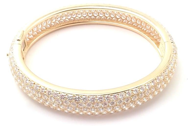 Cartier Etincelle Diamond Pave Yellow Gold Bangle Bracelet For Sale 4