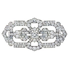 Cartier Exclusive Platinum Brooch with Diamonds