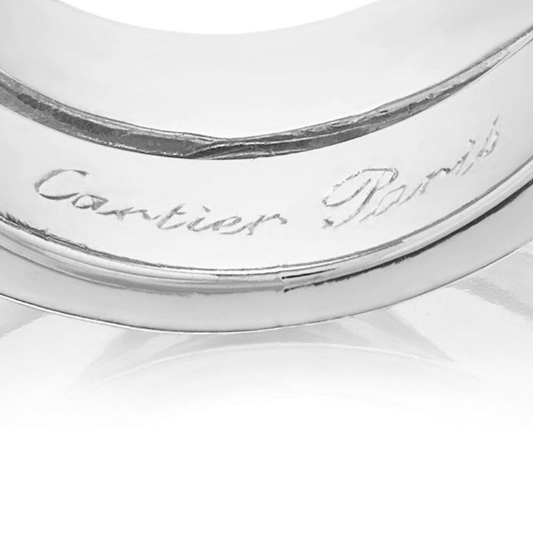 """Etincelle Bands: Cartier French """"Noubelle Vague Etincelle"""" Diamond Ring 18"""