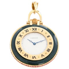 Cartier Fine Gold and Blood Stone Pocket Watch