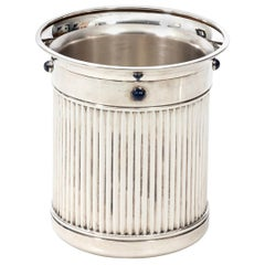 Cartier Fluted Silver Plate Champagne Ice Bucket