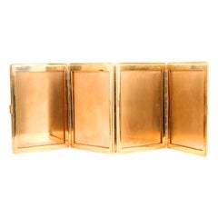 Cartier Foldable Gold Photo Frame, 9 Karat