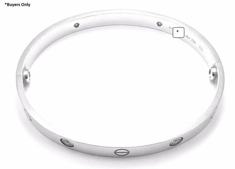 Cartier Four-Diamond White Gold New Screw System Love Bangle Bracelet 4